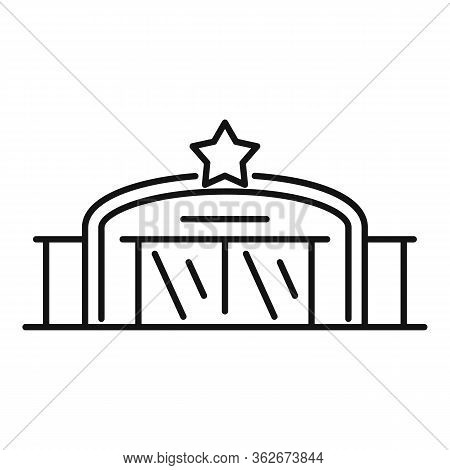 Star Service Garage Icon. Outline Star Service Garage Vector Icon For Web Design Isolated On White B