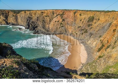 Atlantic isolated beach, Alentejo, Portugal.