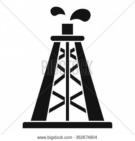 Rig Derrick Icon. Simple Illustration Of Rig Derrick Vector Icon For Web Design Isolated On White Ba