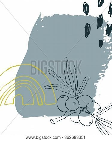 Vector Universal Abstract Card. Hand Drawn Textures For Banner, Poster, Card, Cover, Invitation, Bro