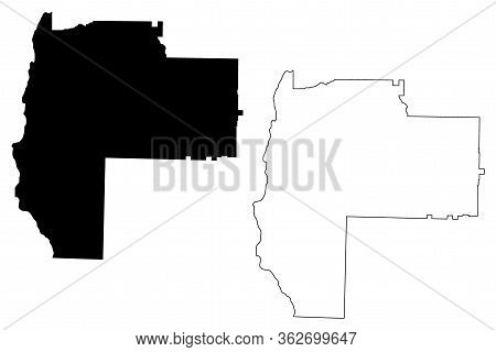 Early County, Georgia (u.s. County, United States Of America,usa, U.s., Us) Map Vector Illustration,