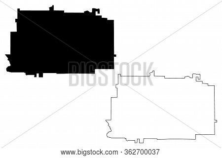 Gordon County, Georgia (u.s. County, United States Of America,usa, U.s., Us) Map Vector Illustration
