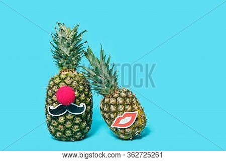 Pineapples Mr. And Mrs. Party And Wedding Concept.