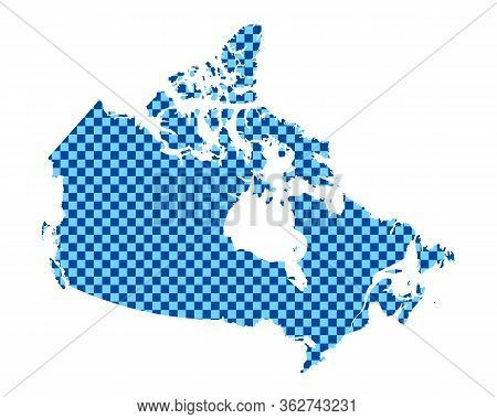 Detailed And Accurate Illustration Of Map Of Canada In Checkerboard Pattern
