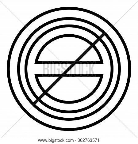 Halogen Symbol Type Cooking Surfaces Sign Utensil Destination Panel Icon Black Color Vector Illustra