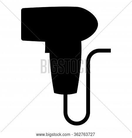 Hand Scanner Barcode Held Icon Black Color Vector Illustration Flat Style Simple Image