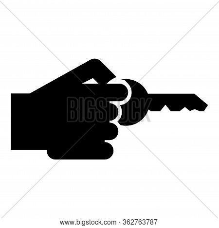 Hand Holds Key Concept Opening Idea Success Business Access Sign Unlock Solution Passkey Rent Access