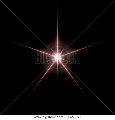 Energy Flare Solar Star Isolated on a Black Background poster