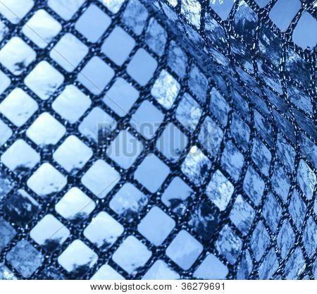 Metallic Blue Sequined Back