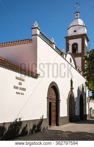 Outdoor Image Of An Old Church, Iglesia De San Gines Of Arrecife, Lanzarote, Spain