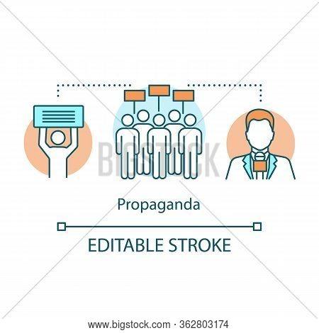 Election Concept Icon. Propaganda Idea Thin Line Illustration. Political Meeting, Protest Action. Pu