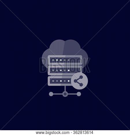 Mainframe, Shared Hosting, Server Icon, Eps 10 File, Easy To Edit