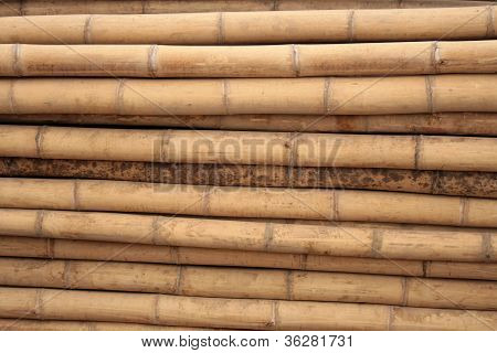Horizontal Bamboo Poles