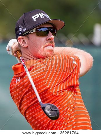 Hunter Mahan At The 2012 Barclays