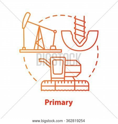 Primary Red Concept Icon. Product Fabrication And Construction Idea Thin Line Illustration. Primary