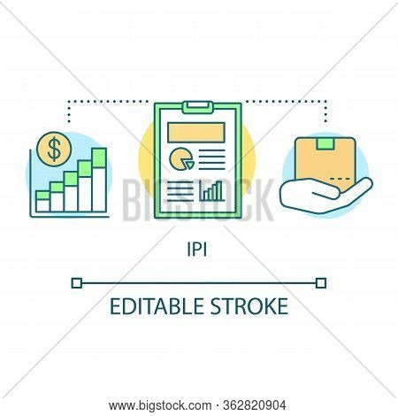 Ipi Concept Icon. Industrial Production Index Idea Thin Line Illustration. Economic Manufacture Indi