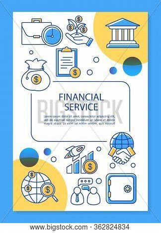 Financial Service Poster Template Layout. Accounting, Banking Industry. Banner, Booklet, Leaflet Pri