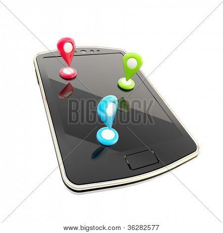 Mobile Gps Navigation Concept Illustration