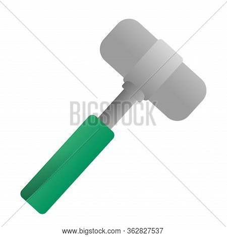 Isolated Reflex Hammer Icon. Medical Icon - Vector