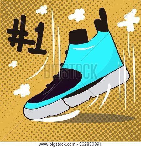 Basketball Poster. Colored Basketball Shoe - Vector Illustration