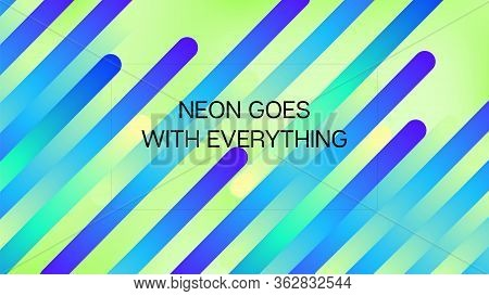 Funky Neon Blend Vector Background. Iridescent Noble Vector Color Overlay. Fluid Neon Bright Trendy