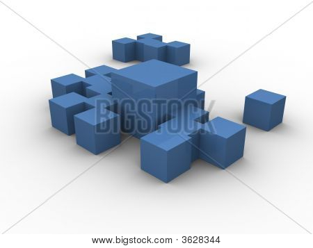 Blue Boxes Clustered
