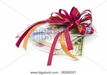 banknote and ribbon