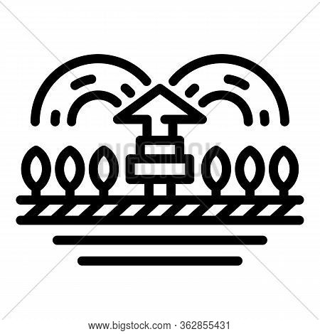 Garden Irrigation Icon. Outline Garden Irrigation Vector Icon For Web Design Isolated On White Backg