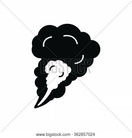 Black Solid Icon For Smoke Steam Fog Haze
