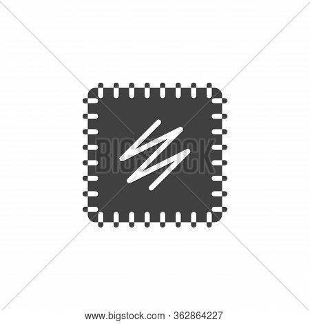 Embroidery Fabric Vector Icon. Filled Flat Sign For Mobile Concept And Web Design. Hand Embroidery G