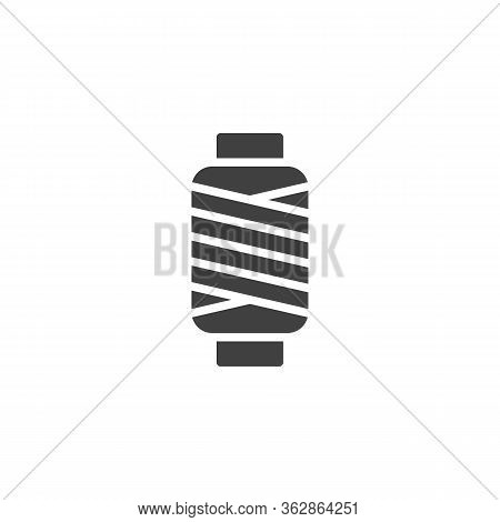 Sewing Thread Spool Vector Icon. Filled Flat Sign For Mobile Concept And Web Design. Thread Bobbin G
