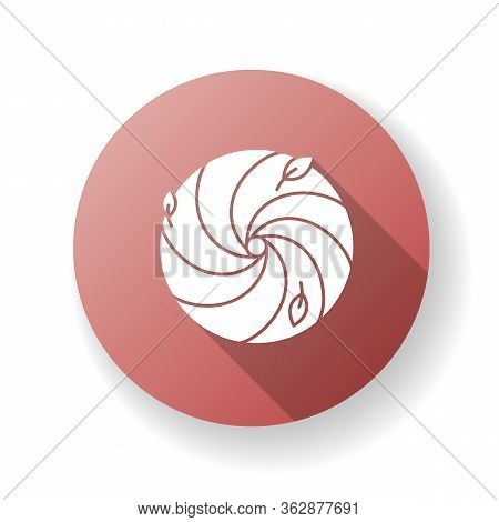 Hurricane Red Flat Design Long Shadow Glyph Icon. Bad Meteorological Forecast, Extreme Weather. Dang
