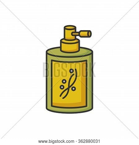 Liquid Silicon In Bottle Rgb Color Icon. Liquid Shampoo For Hydration. Conditioner In Jar Container