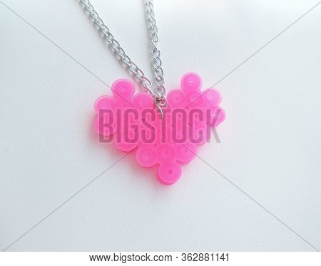 A Pendant Heart Made Of Thermomosaic, Bead Bauble