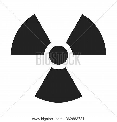 Radiaction Symbol. Caution Radioactive Danger Sign. Radiaction Icon Design Template On Isolated Back
