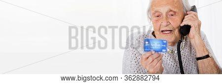 Elder Woman Phone Call Credit Card Scam