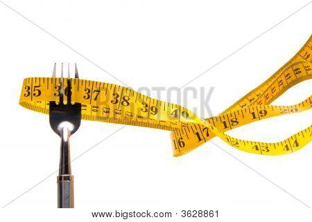 Tailor'S Tape On A Fork