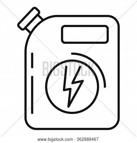 Hybrid Car Canister Icon. Outline Hybrid Car Canister Vector Icon For Web Design Isolated On White B
