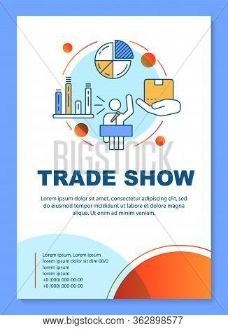 Trade Show Poster Template Layout. Sales Pitch. Product Presentation Event. Banner, Booklet, Leaflet