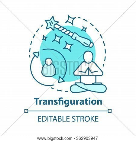 Transfiguration Concept Icon. Wizardry And Sorcery Idea Thin Line Illustration. Appearance Alteratio