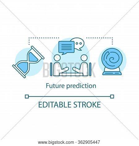Future Prediction Concept Icon. Fortune Telling Service. Divination And Occultism Idea Thin Line Ill