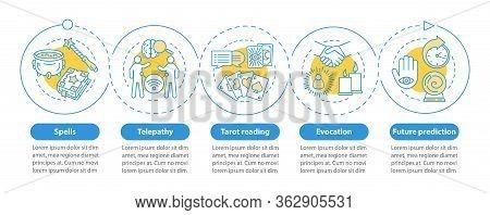 Magic Services Vector Infographic Template. Business Presentation Design Elements. Data Visualizatio