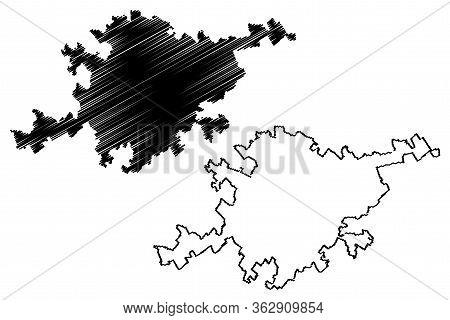 Lecce City (italian Republic, Italy, Apulia) Map Vector Illustration, Scribble Sketch City Of Lecce