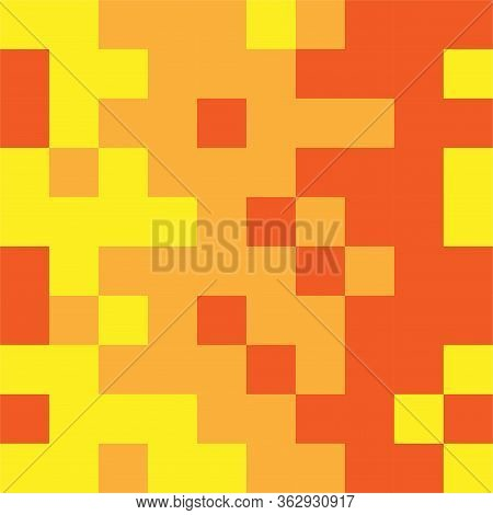 Abstract Illustration Of Colored Squares. Infinite Geometric Background.