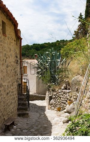 Little Village Of Eus, One Of The Most Beautiful Villages Of France. One Of The Most Beautiful Villa
