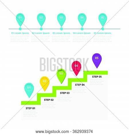 Milestone, Timeline Template For Presentation, Business Concept, Vector Design. Infographic Elements
