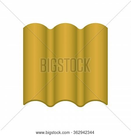 Roof Tile Vector Icon. Made From Material I.e. Terracotta, Slate, Metal, Steel, Ceramic, Concrete, P