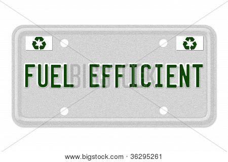 Combustible de matrículas de coches eficientes