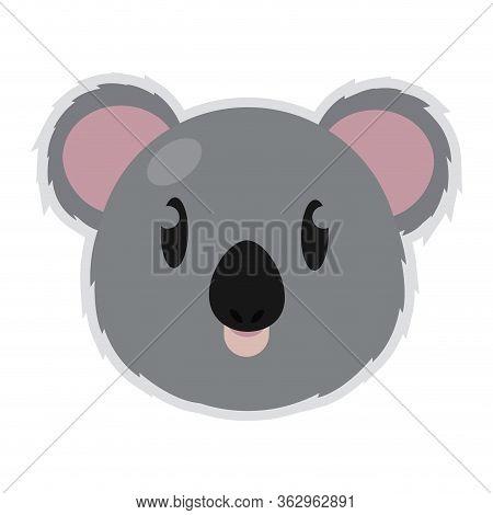 Isolated Cute Koala Cartoon. Zoo Animal - Vector