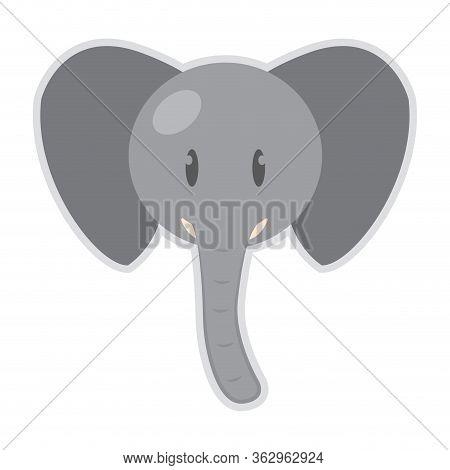 Isolated Cute Elephant Cartoon. Zoo Animal - Vector